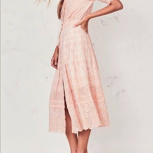 LoveShackFancy Helena Dress (Pink Parfait)
